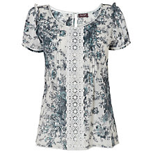 Buy Phase Eight Nanette Print Blouse, Grey Online at johnlewis.com