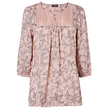 Buy Phase Eight Bea Butterfly Blouse, Pale Pink Online at johnlewis.com