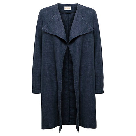 Buy East Delave Waterfall Coat, Indigo Online at johnlewis.com