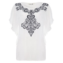 Buy Damsel in a dress Abalone Embroidered Top, Ivory/Black Online at johnlewis.com