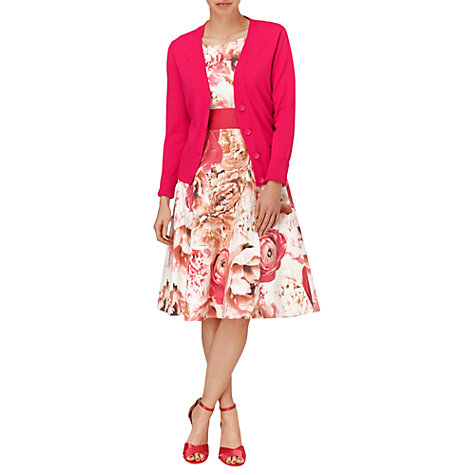 Buy Phase Eight Vanessa V-neck Cardigan, Fuchsia Online at johnlewis.com