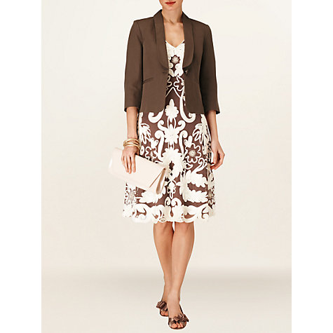 Buy Phase Eight Nadia Jacket, Praline Online at johnlewis.com