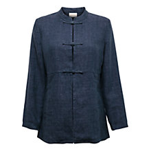 Buy East Mandarin Delave Jacket, Indigo Online at johnlewis.com