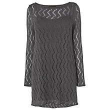 Buy Phase Eight Zoe Zig Zag Tunic, Pewter Online at johnlewis.com