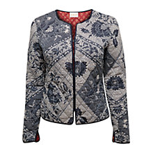 Buy East Kio Stitch Padded Jacket, White / Multi Online at johnlewis.com