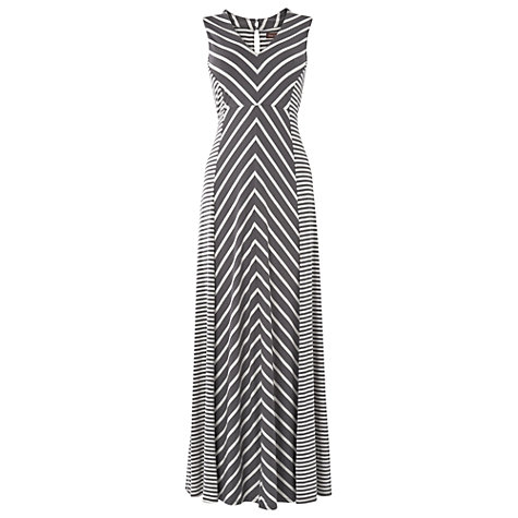 Buy Phase Eight Chevron Maxi Dress, Grey/Ivory Online at johnlewis.com