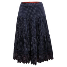 Buy East Emi Printed Tiered Skirt, Ink Online at johnlewis.com