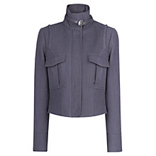 Buy Mango Textured Cotton Jacket, Bright Blue Online at johnlewis.com