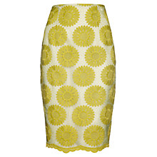 Buy Damsel in a dress Sea Daisy Skirt, Chartreuse/Ivory Online at johnlewis.com