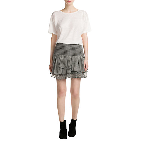 Buy Mango Linen T-Shirt, White Online at johnlewis.com