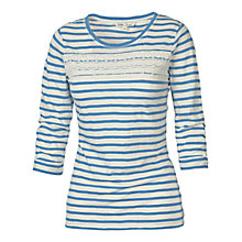Buy Fat Face Lewes Crochet Stripe T-Shirt Online at johnlewis.com