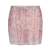 Buy Mango Printed Flared Skirt, Light Pastel Pink Online at johnlewis.com
