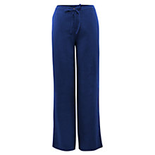 Buy East Drawstring Linen Trousers, Nautical Online at johnlewis.com