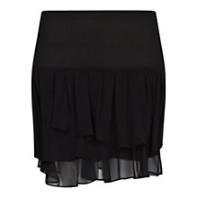 Buy Mango Ruffled Skirt, Black Online at johnlewis.com
