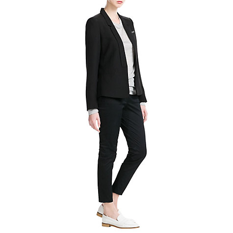 Buy Mango Applique Crepe Blazer, Black Online at johnlewis.com