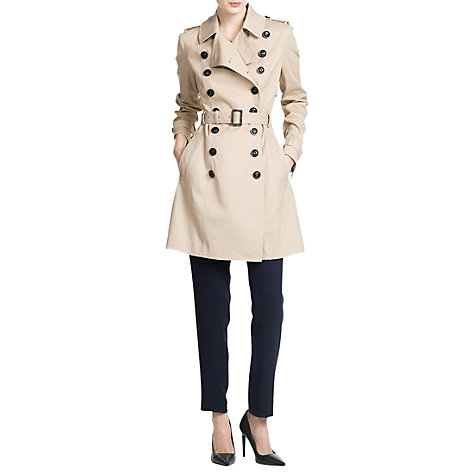 Buy Mango Trim Trench Coat, Light Beige Online at johnlewis.com