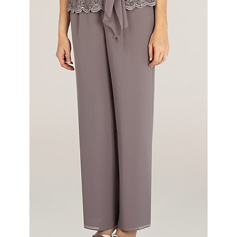 Buy Jacques Vert Chiffon Trousers, Brown Online at johnlewis.com