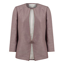 Buy Jacques Vert Pipe Stand Collar Jacket, Brown Online at johnlewis.com