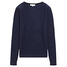 Buy Jigsaw Cotton Stripe Long Sleeve Boat Neck Jumper Online at johnlewis.com