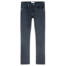 Buy Jigsaw Garment Dye Cotton Slim Straight Jeans, Navy Online at johnlewis.com