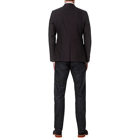 Buy Jigsaw Cotton Pique 2-Button Blazer, Navy Online at johnlewis.com
