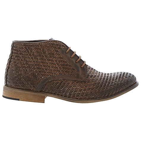 Buy Bertie Chalk Farm Woven Leather Lace-Up Ankle Boots Online at johnlewis.com