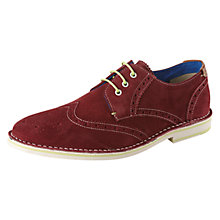 Buy Ted Baker Jamfro Suede Brogues, Pink Online at johnlewis.com