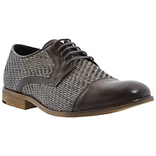 Buy Bertie Baskett Gibson Woven Leather Derby Shoes, Grey Online at johnlewis.com