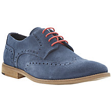 Buy Bertie Aston 2 Suede Brogue Derby Shoes, Navy Online at johnlewis.com