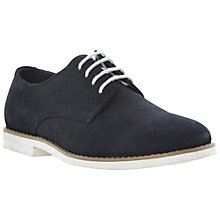 Buy Dune Boyd White Sole Gibson Shoes, Navy Online at johnlewis.com