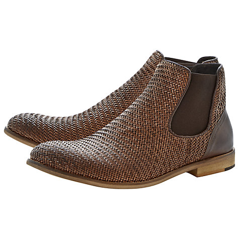 Buy Bertie Criss Cross Leather Chelsea Boots, Tan Online at johnlewis.com