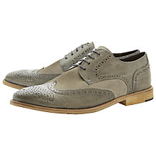 Buy Bertie Aston Suede Brogue Derby Shoes, Grey Online at johnlewis.com