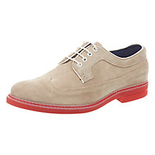 Buy Ted Baker Juppita Suede Brogues, Cream Online at johnlewis.com