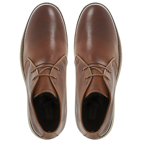 Buy Dune Christoff Leather Chukka Boots, Tan Online at johnlewis.com