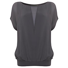 Buy Mint Velvet Sheer Blouson Top Online at johnlewis.com