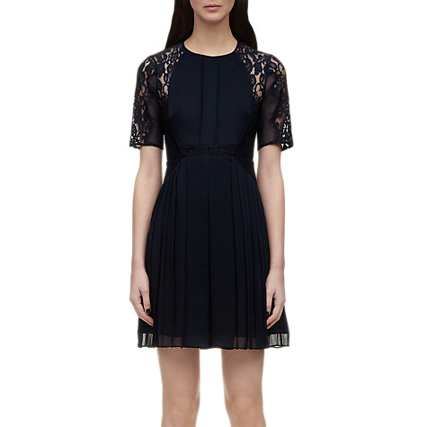 Buy Whistles Linn Lace Dress, Navy Online at johnlewis.com