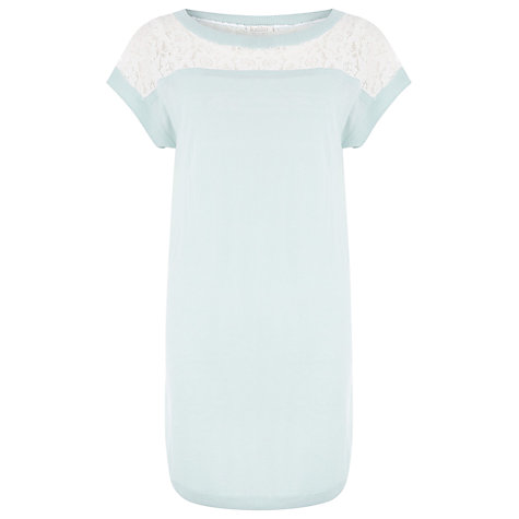 Buy Kaliko Lace Knit Tunic Dress, Blue Online at johnlewis.com