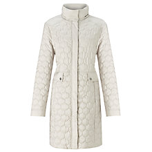 Buy Four Seasons Quilted Coat, Chalk Online at johnlewis.com