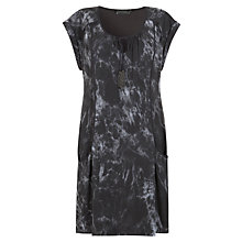 Buy Mint Velvet Jasmine Print Slouchy Dress, Slate Online at johnlewis.com