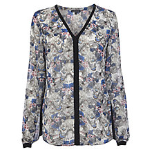 Buy Warehouse Butterfly Print Blouse, Multi Online at johnlewis.com