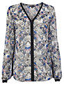 Warehouse Butterfly Print Blouse, Multi