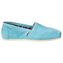 Buy TOMS Original Classic Canvas Plimsolls Online at johnlewis.com