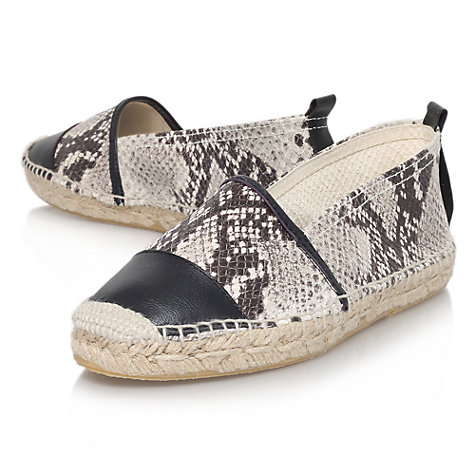 Buy KG by Kurt Geiger Maddison Leather Flat Espadrille Slip On Shoes Online at johnlewis.com
