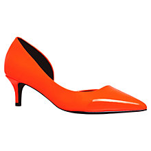 Buy KG by Kurt Geiger Cara Patent Court Shoes, Orange Online at johnlewis.com