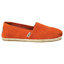 Buy TOMS Season Classic Perforated Suede Plimsolls Online at johnlewis.com