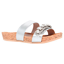 Buy Carvela Kick Embelished Toe Sandals, Silver Online at johnlewis.com