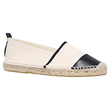 Buy KG by Kurt Geiger Maddison Flat Espadrille Slip On Shoes Online at johnlewis.com