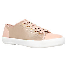 Buy KG by Kurt Geiger Flat Low Top Leather Trainers Online at johnlewis.com