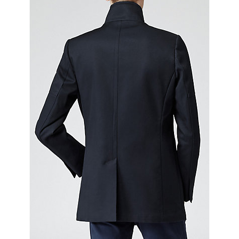 Buy Reiss Brooks Single Breasted Pea Coat, Navy Online at johnlewis.com