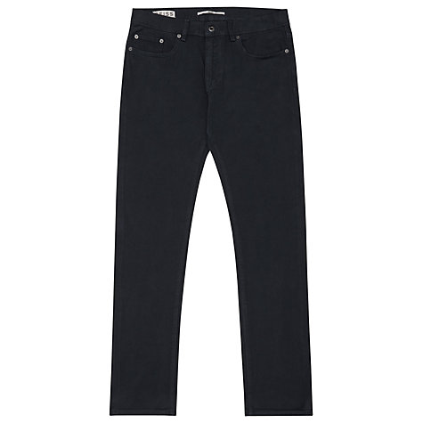 Buy Reiss Montreal Denim Trousers, Navy Online at johnlewis.com